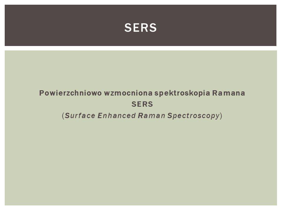 Powierzchniowo wzmocniona spektroskopia Ramana SERS (Surface Enhanced Raman Spectroscopy) SERS