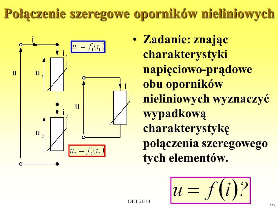 OE1 2014 109 Połączenie szeregowe oporników liniowych