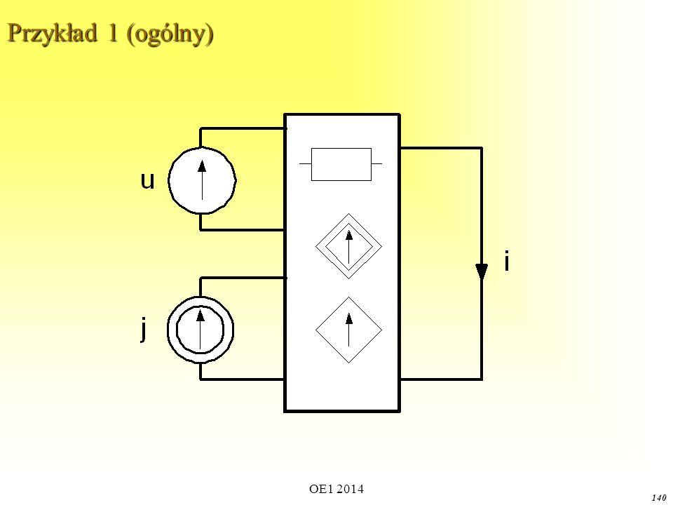 OE1 2014 139 Usunięcie źródła napięciowego oznacza pozostawienie jego rezystancji wewnętrznej równej 0 czyli zwarciu jego zacisków: