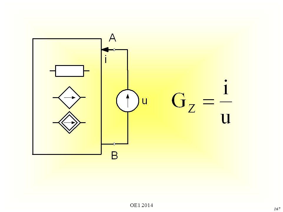 OE1 2014 166 Rozpatrując stan obwodu, w którym działa jedynie źródło u, (tzn.