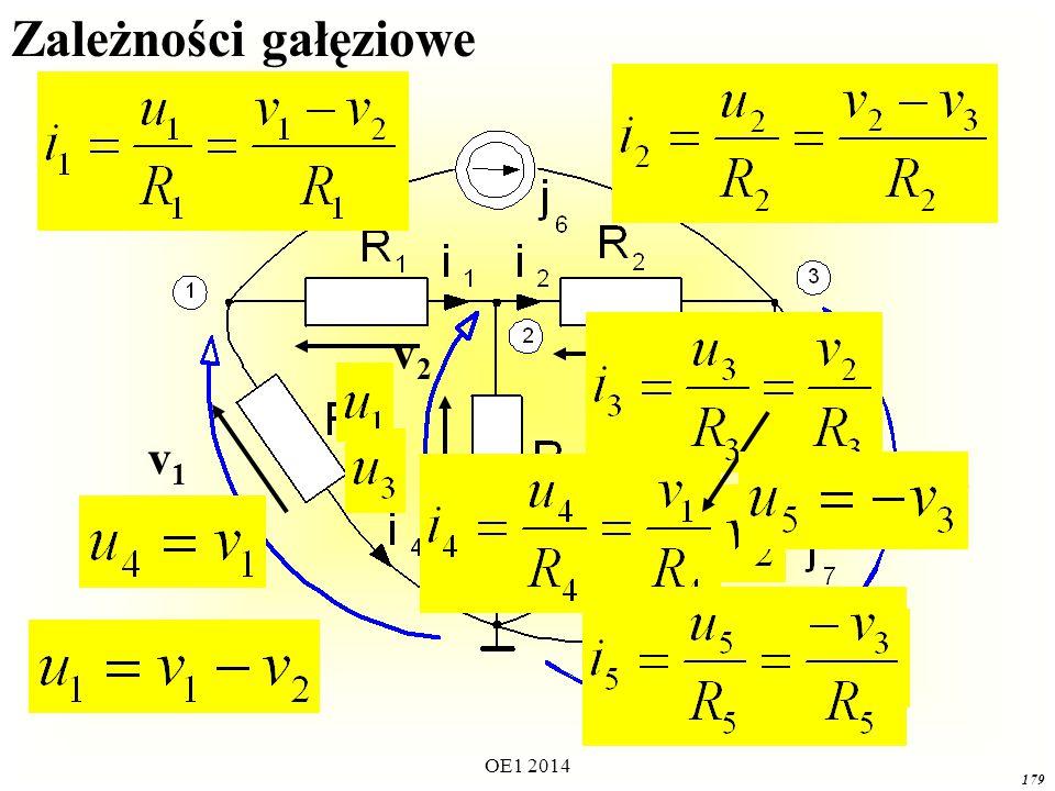 OE1 2014 178 v1v1 v3v3 v2v2 Równania prądowe