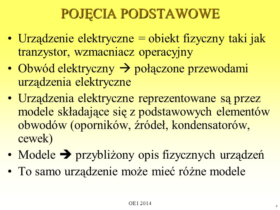 OE1 2014 157 Rozpatrujemy obwód liniowy: