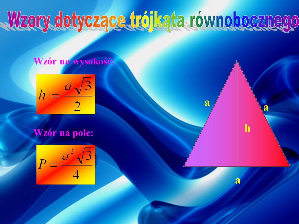 Zależności między długościami boków w trójkącie prostokątnym o kątach ostrych 45 o i 45 o. Zależności między długościami boków w trójkącie prostokątny