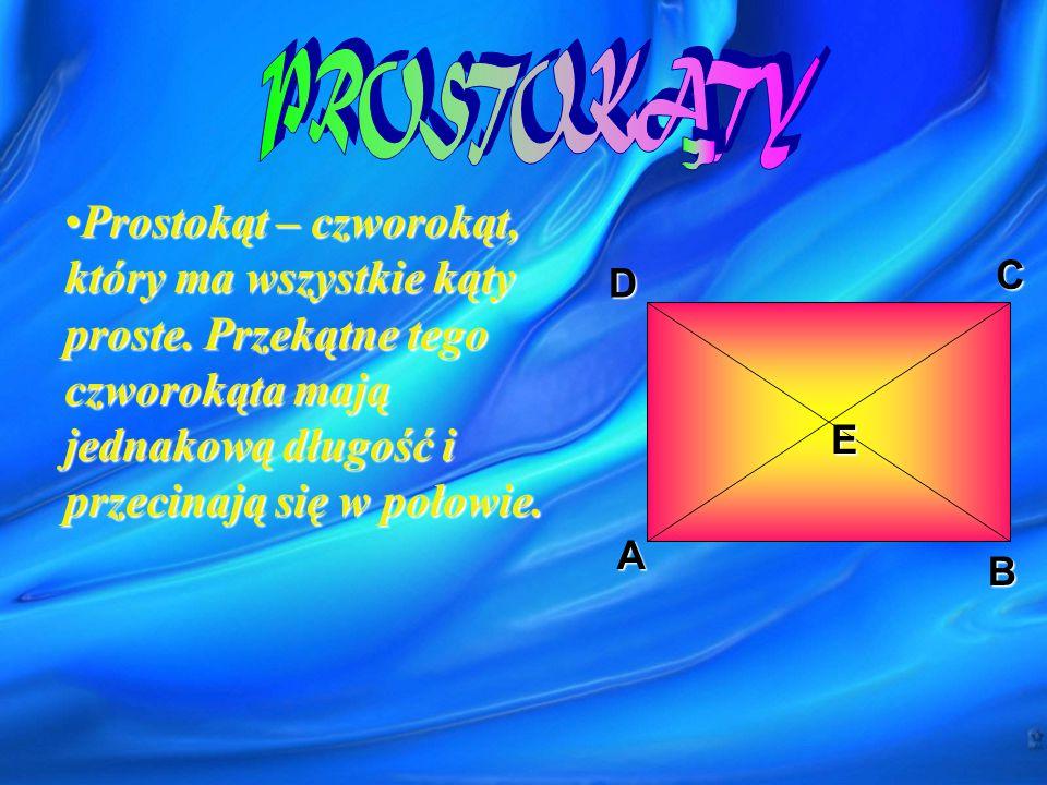 A DC B a a Pole- P=a 2 = Obwód- Obw=4a
