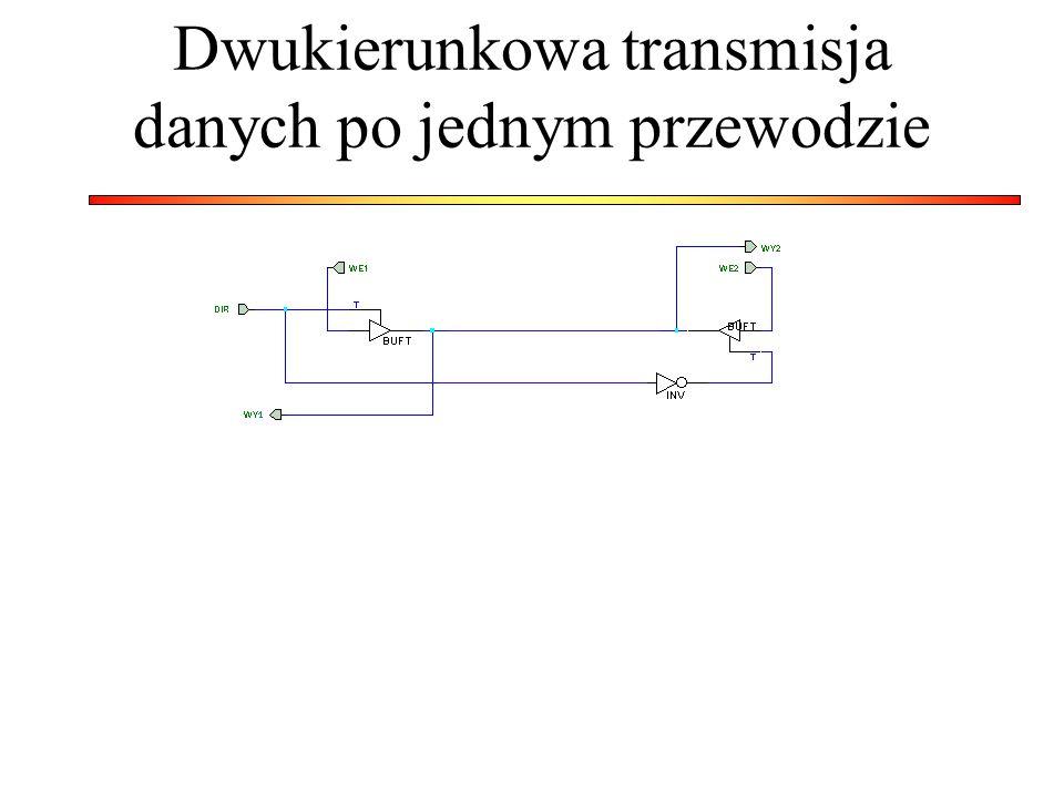 Dwukierunkowa transmisja danych po jednym przewodzie
