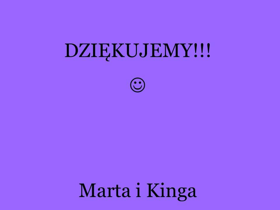 DZIĘKUJEMY!!! Marta i Kinga