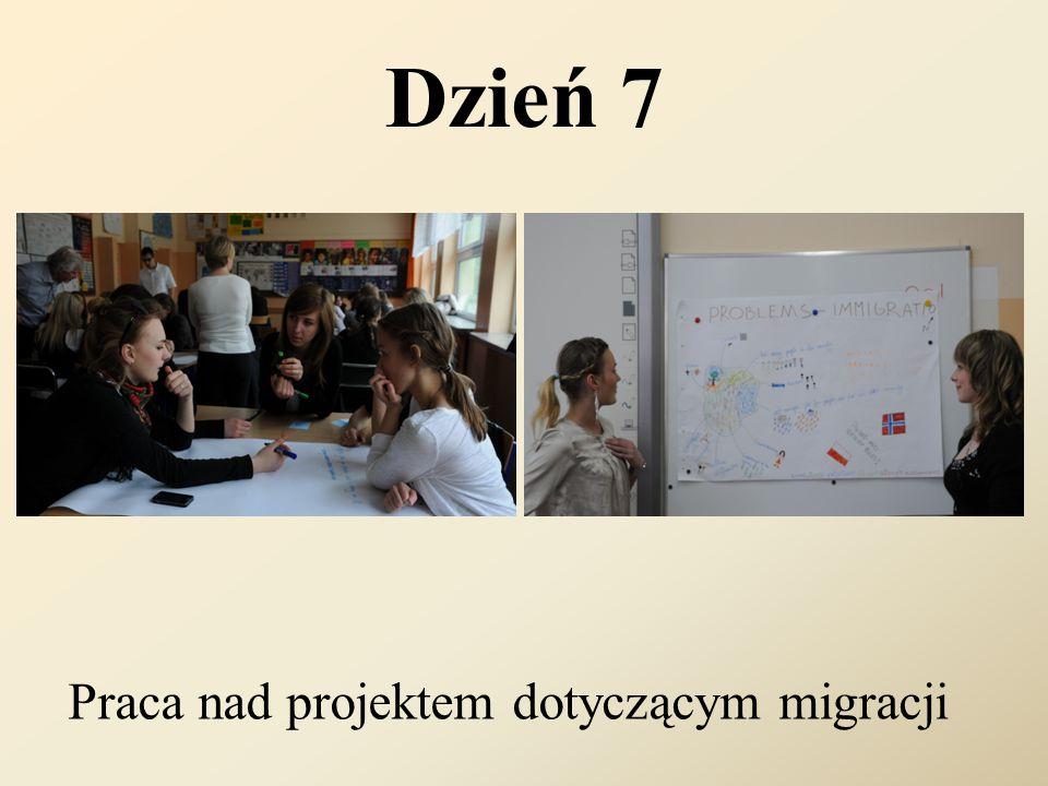 Dzień 7 Praca nad projektem dotyczącym migracji