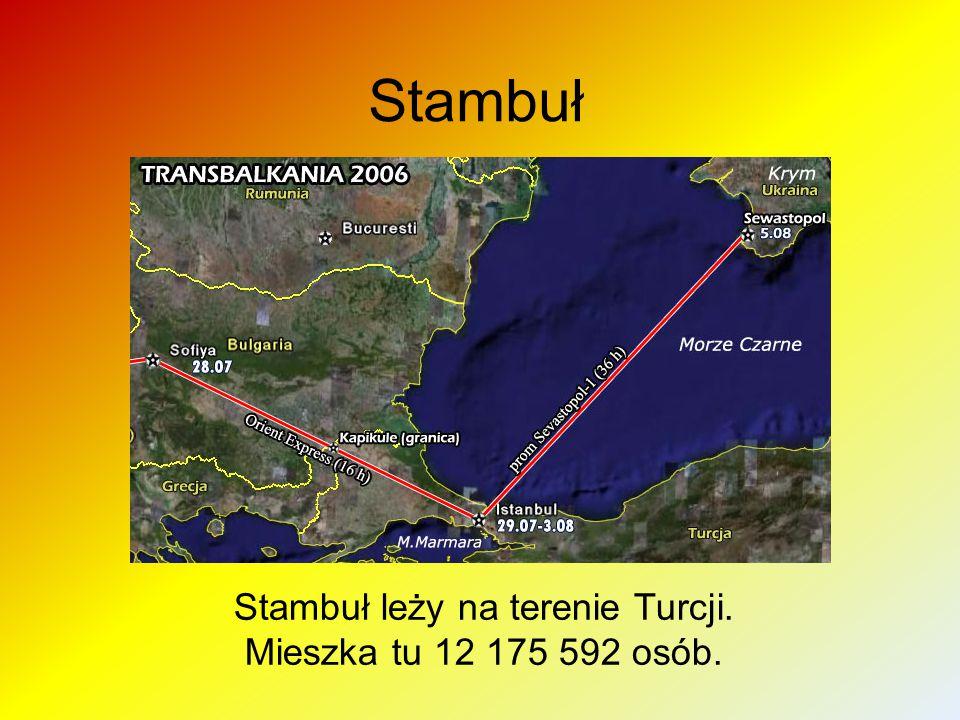 Stambuł Stambuł leży na terenie Turcji. Mieszka tu 12 175 592 osób.