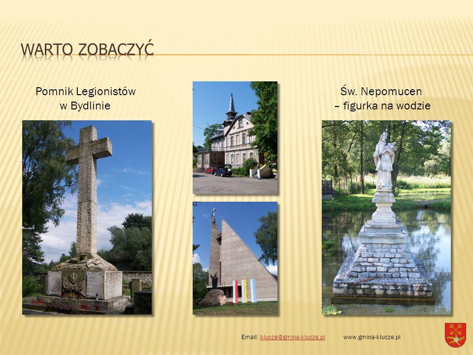 Pomnik Legionistów w Bydlinie Św. Nepomucen – figurka na wodzie Email: klucze@gmina-klucze.pl www.gmina-klucze.plklucze@gmina-klucze.pl