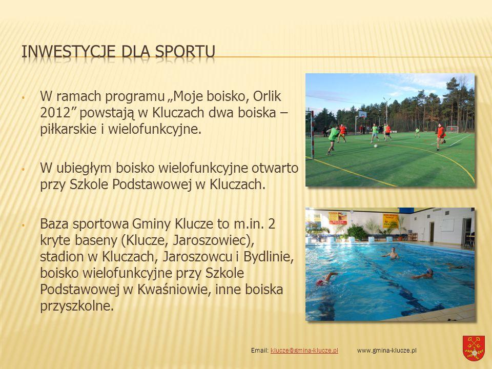 """W ramach programu """"Moje boisko, Orlik 2012"""" powstają w Kluczach dwa boiska – piłkarskie i wielofunkcyjne. W ubiegłym boisko wielofunkcyjne otwarto prz"""