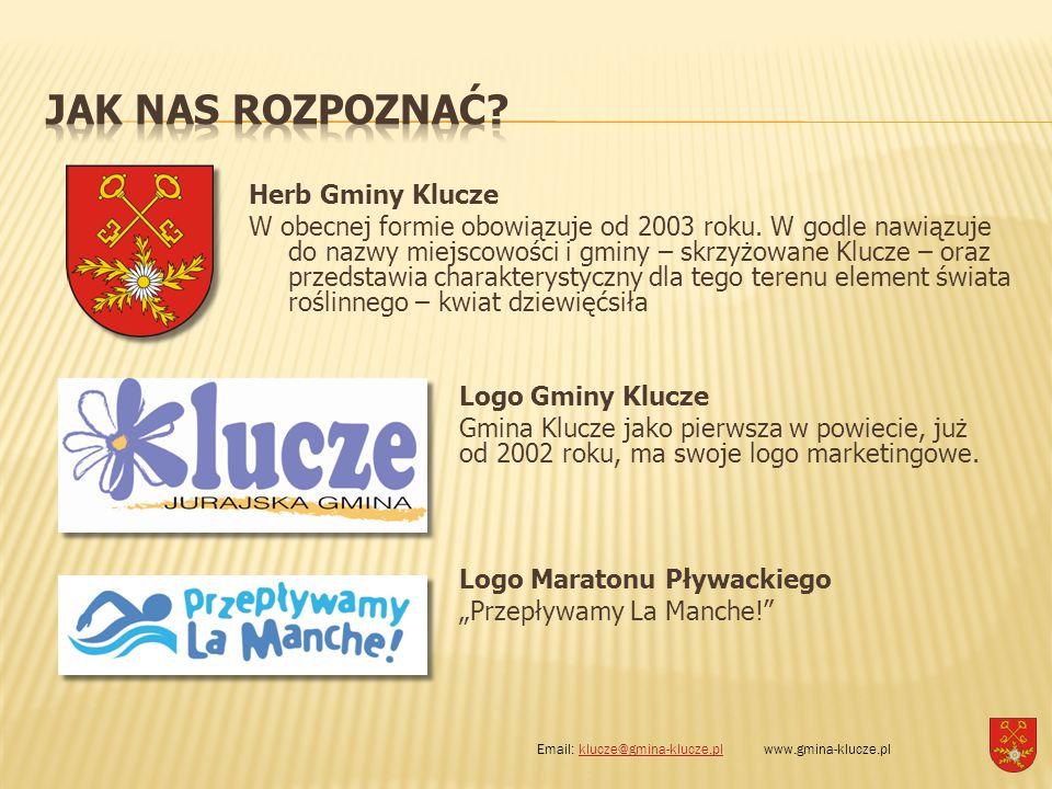 Herb Gminy Klucze W obecnej formie obowiązuje od 2003 roku. W godle nawiązuje do nazwy miejscowości i gminy – skrzyżowane Klucze – oraz przedstawia ch