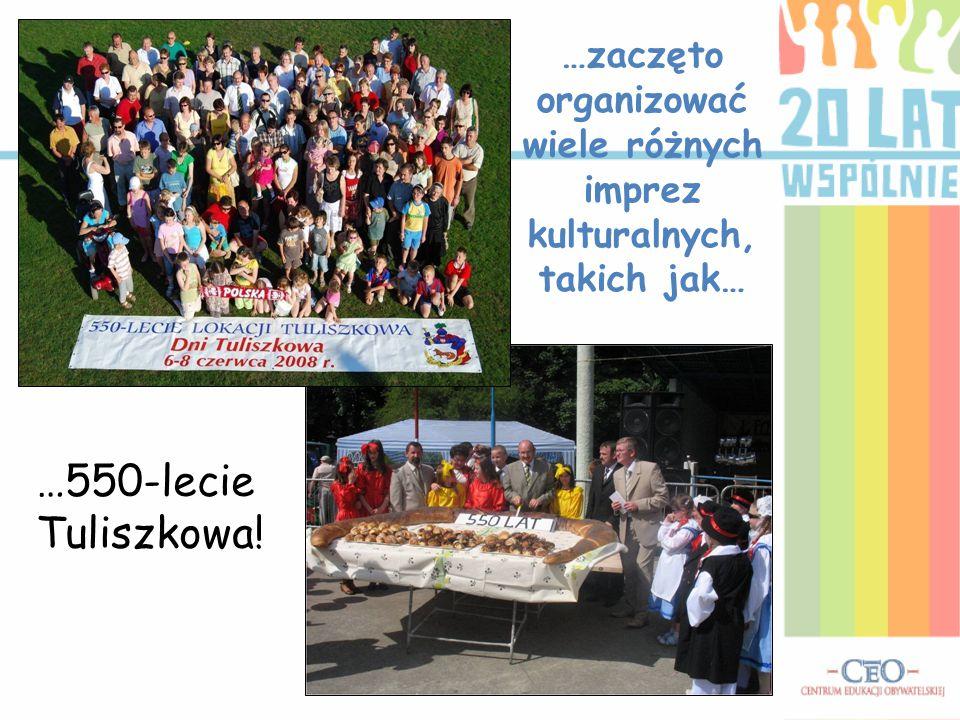 …zaczęto organizować wiele różnych imprez kulturalnych, takich jak… …550-lecie Tuliszkowa!