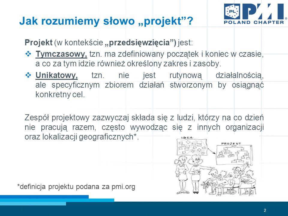 """2 Jak rozumiemy słowo """"projekt .Projekt (w kontekście """"przedsięwzięcia ) jest:  Tymczasowy, tzn."""