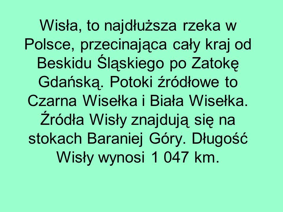 Wisła, to najdłuższa rzeka w Polsce, przecinająca cały kraj od Beskidu Śląskiego po Zatokę Gdańską. Potoki źródłowe to Czarna Wisełka i Biała Wisełka.