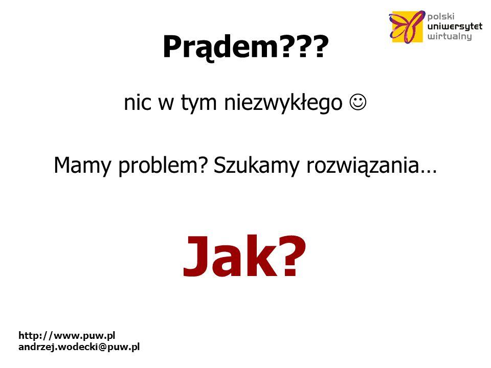 http://www.puw.pl andrzej.wodecki@puw.pl Prądem??.
