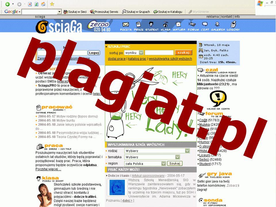 http://www.puw.pl andrzej.wodecki@puw.pl Można prościej plagiat.pl