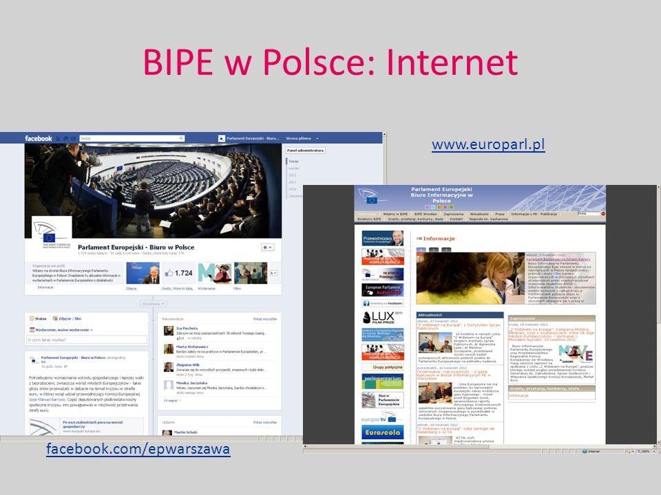 BIPE w Polsce: Internet www.europarl.pl facebook.com/epwarszawa