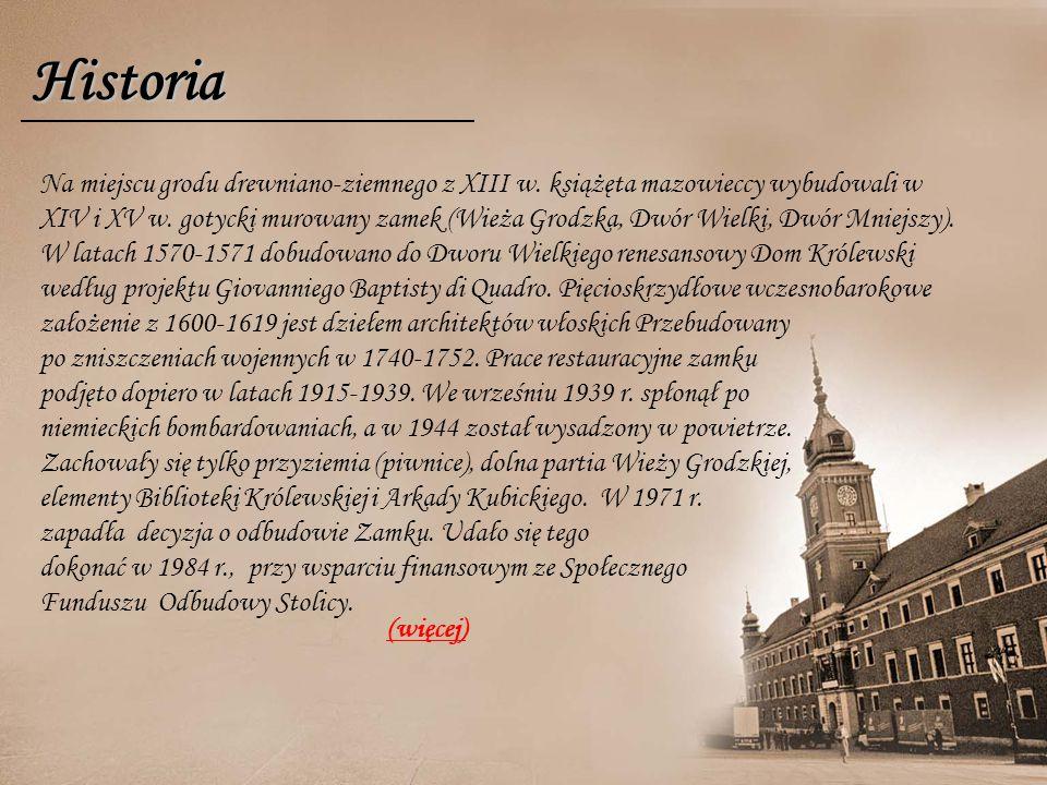Historia Na miejscu grodu drewniano-ziemnego z XIII w.