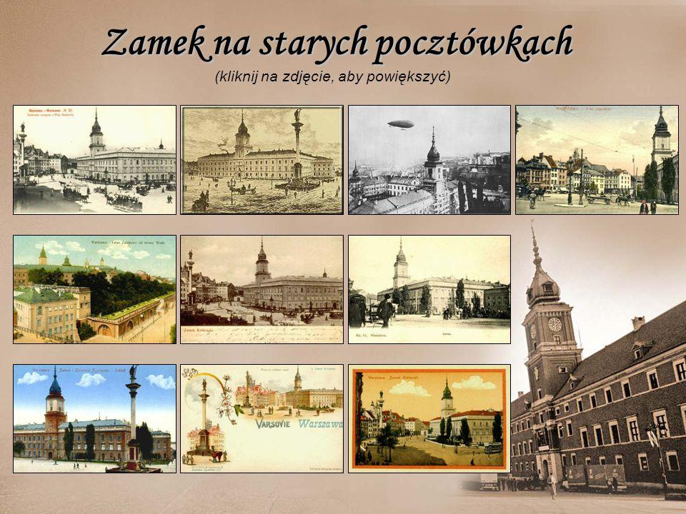 Zamek na starych pocztówkach (kliknij na zdjęcie, aby powiększyć)