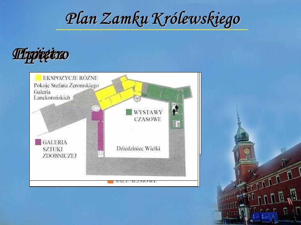 Plan Zamku Królewskiego PiwniceParter I piętro II piętro