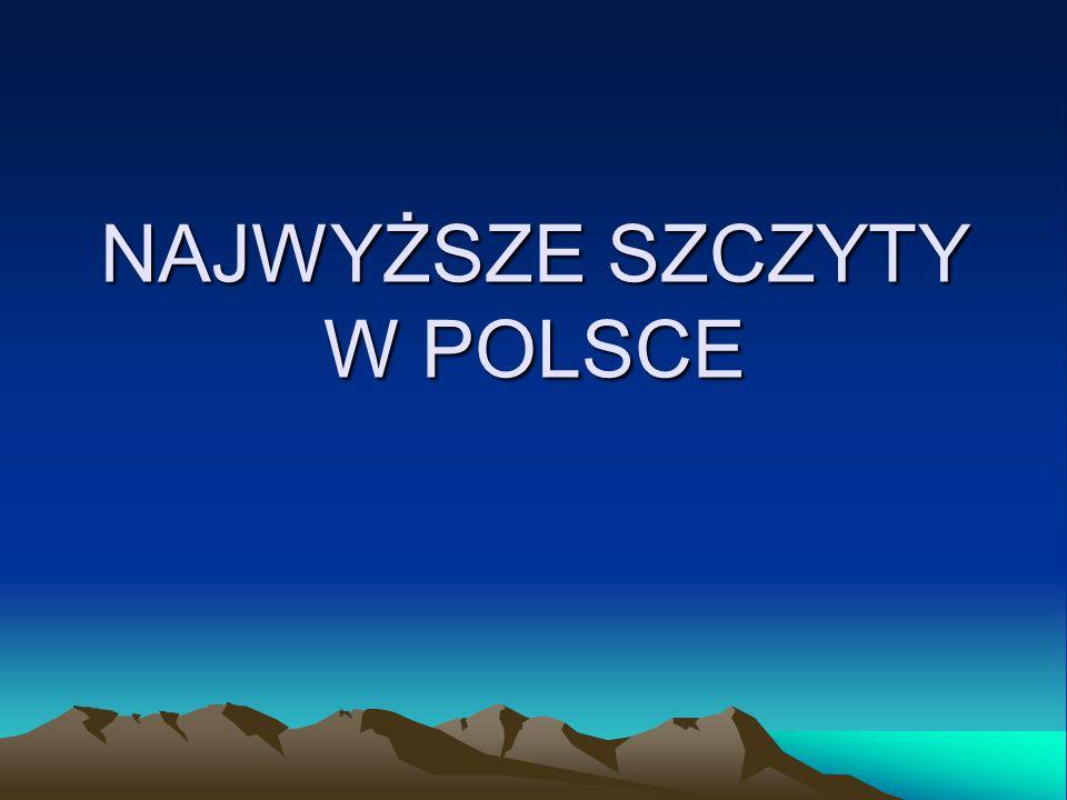 TATRY Rysy2499 m n.p.m. Mięguszowiecki Szczyt2438 m n.p.m. Niżne Rysy2430 m n.p.m.
