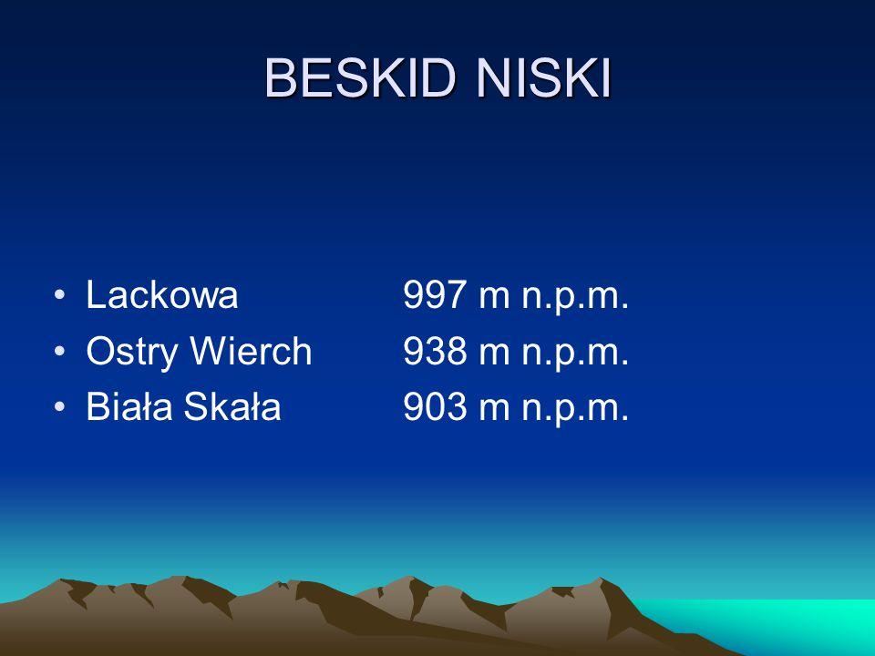 BESKID NISKI Lackowa997 m n.p.m. Ostry Wierch938 m n.p.m. Biała Skała903 m n.p.m.