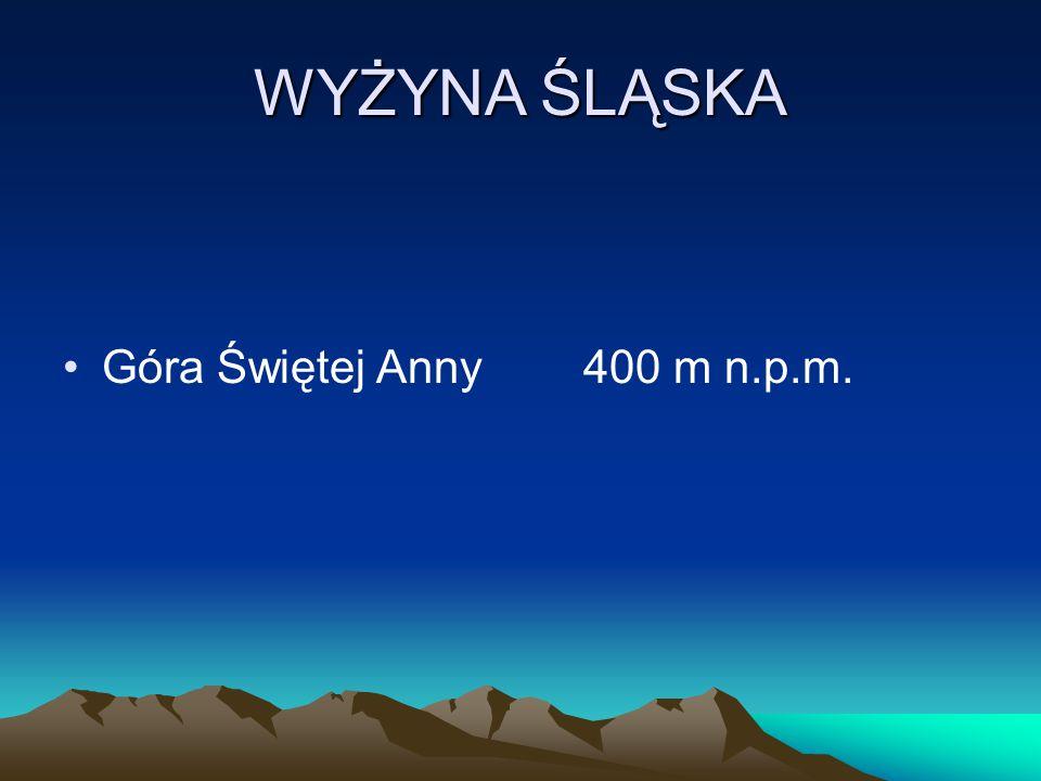 WYŻYNA ŚLĄSKA Góra Świętej Anny400 m n.p.m.