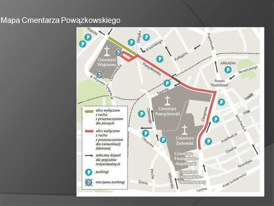 Mapa Cmentarza Powązkowskiego