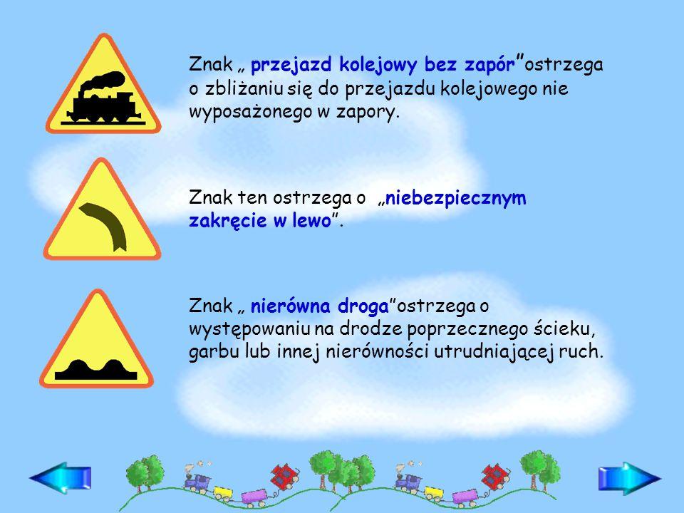 Znaki uzupełniające zawierają informacje ułatwiające uczestnikom ruchu drogowego orientację w terenie.