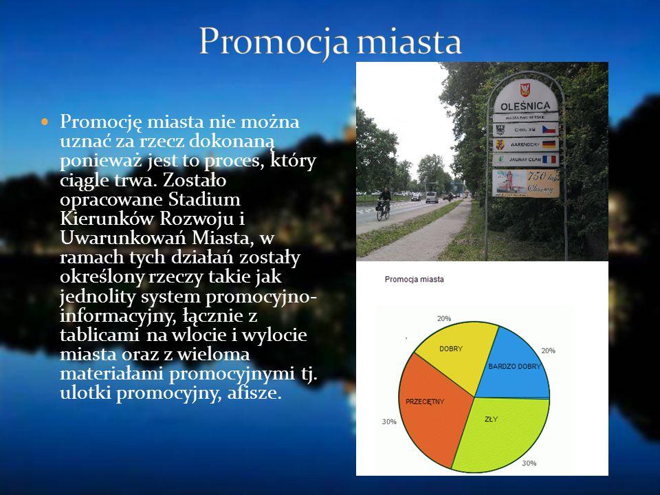 Promocję miasta nie można uznać za rzecz dokonaną ponieważ jest to proces, który ciągle trwa. Zostało opracowane Stadium Kierunków Rozwoju i Uwarunkow