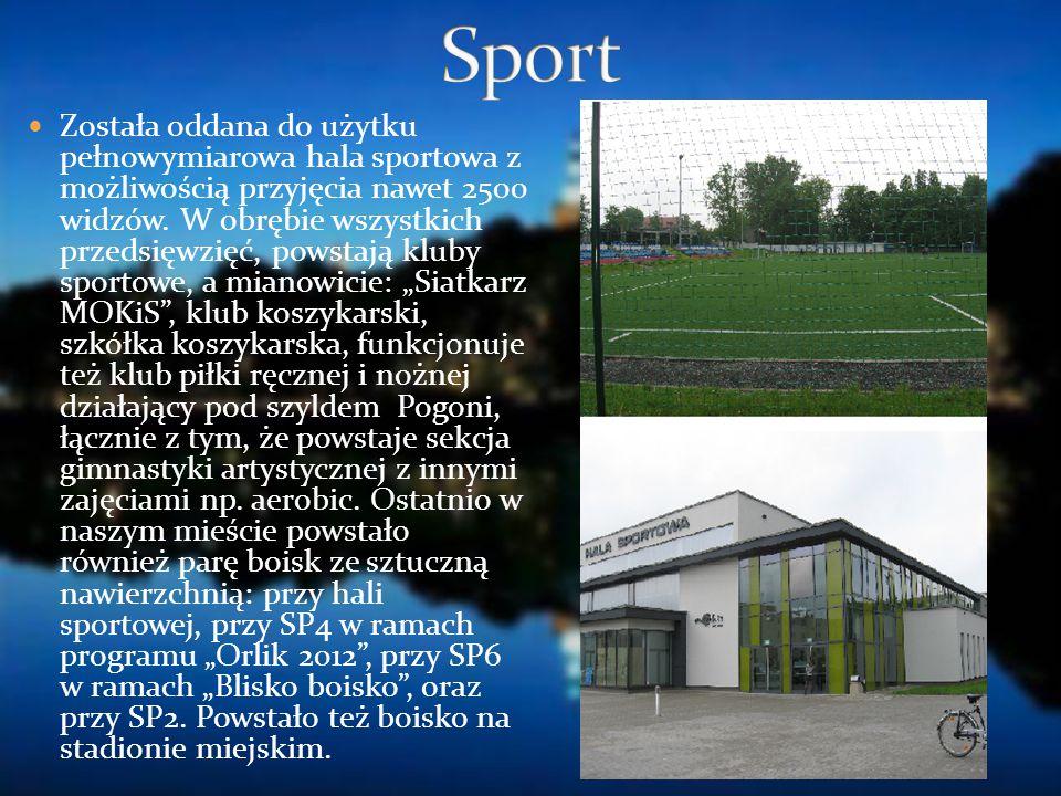 Została oddana do użytku pełnowymiarowa hala sportowa z możliwością przyjęcia nawet 2500 widzów. W obrębie wszystkich przedsięwzięć, powstają kluby sp