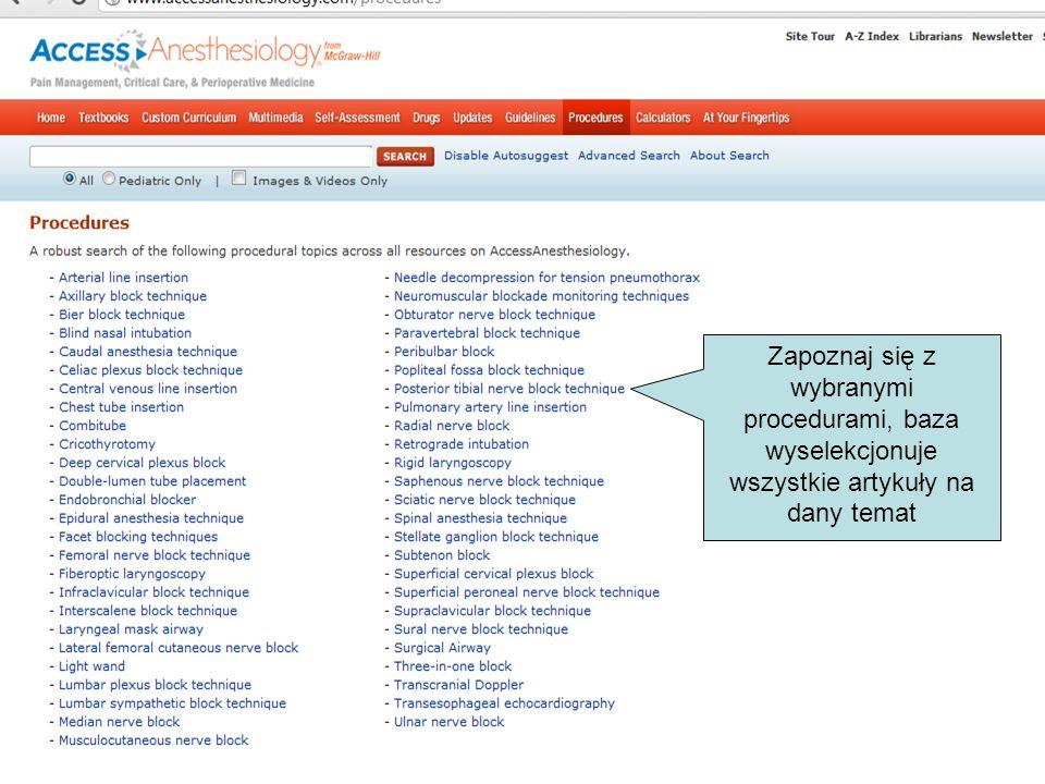 Zapoznaj się z wybranymi procedurami, baza wyselekcjonuje wszystkie artykuły na dany temat