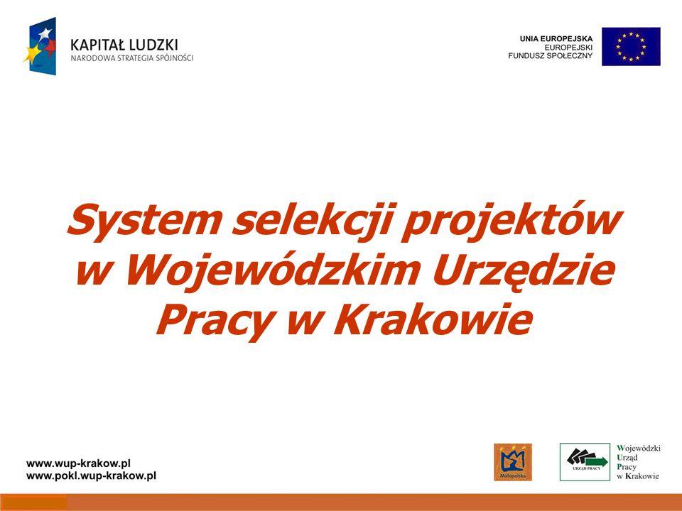 System selekcji projektów w Wojewódzkim Urzędzie Pracy w Krakowie