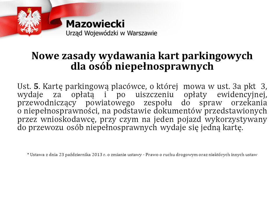 Nowe zasady wydawania kart parkingowych dla osób niepełnosprawnych Ust.