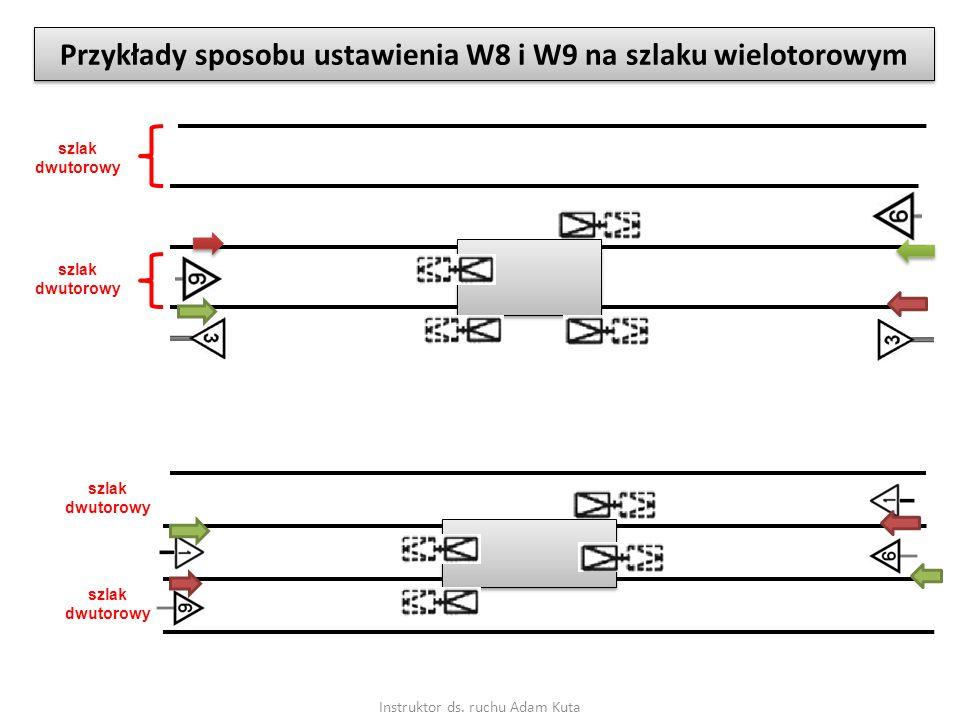 Instruktor ds. ruchu Adam Kuta Przykłady sposobu ustawienia W8 i W9 na szlaku wielotorowym szlak dwutorowy szlak dwutorowy