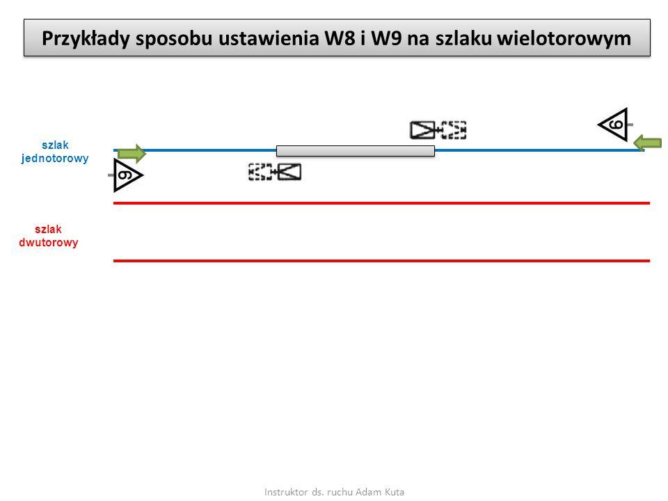 Instruktor ds. ruchu Adam Kuta Przykłady sposobu ustawienia W8 i W9 na szlaku wielotorowym szlak jednotorowy szlak dwutorowy