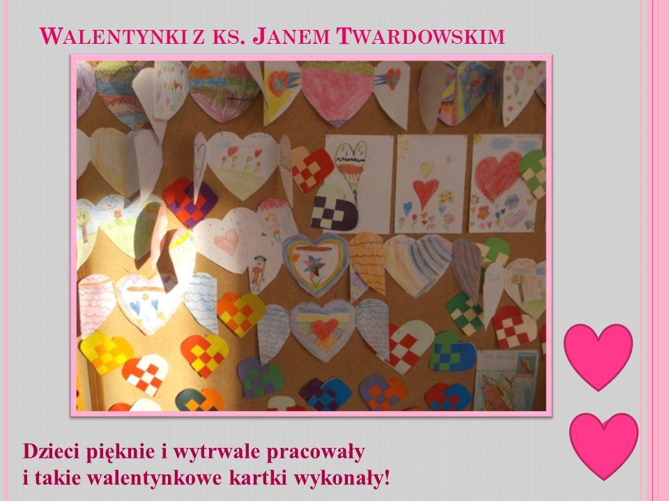 Dzieci pięknie i wytrwale pracowały i takie walentynkowe kartki wykonały!