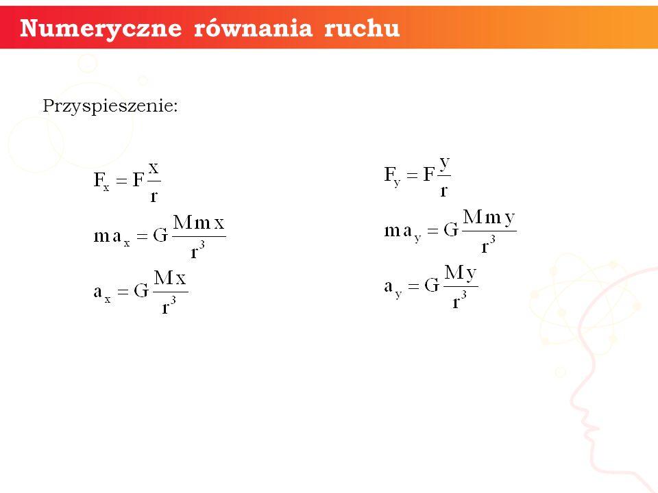 Przyspieszenie: informatyka + 13 Numeryczne równania ruchu
