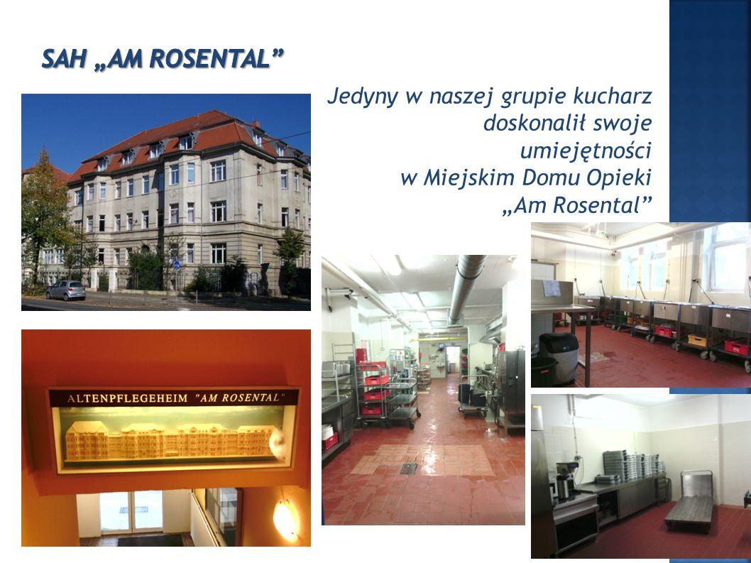"""Jedyny w naszej grupie kucharz doskonalił swoje umiejętności w Miejskim Domu Opieki """"Am Rosental"""