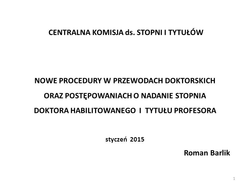 Podstawowe akty prawne U-SiT (Ustawa z dnia 14 marca 2003 o stopniach naukowych i tytule naukowym oraz o stopniach i tytule w zakresie sztuki (Dz.