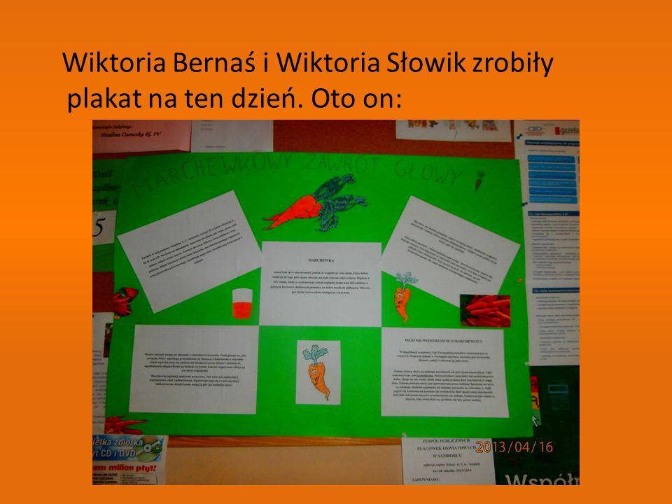 Wiktoria Bernaś i Wiktoria Słowik zrobiły plakat na ten dzień. Oto on: