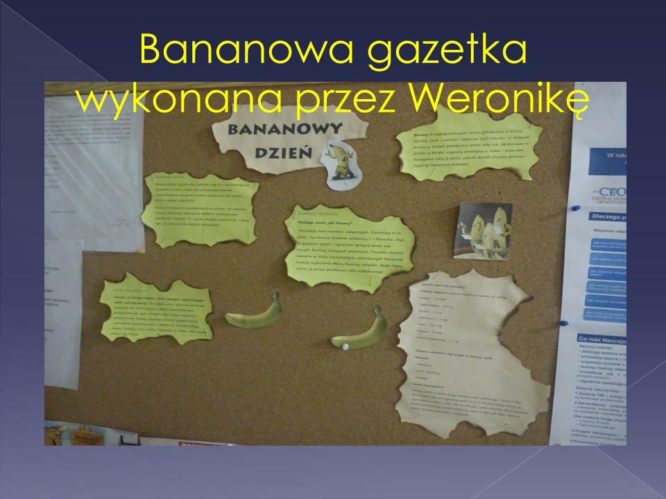 Bananowa gazetka wykonana przez Weronikę