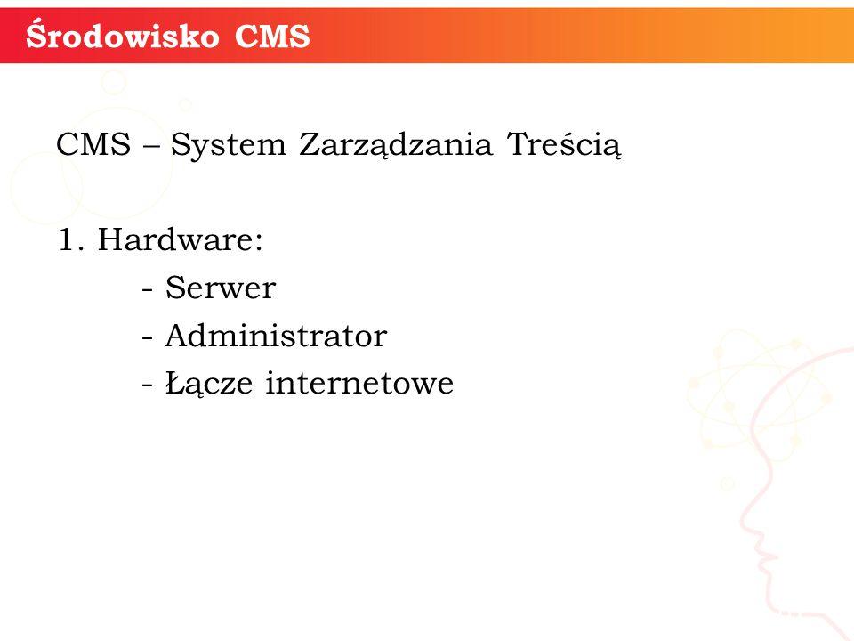 CMS – System Zarządzania Treścią 1.