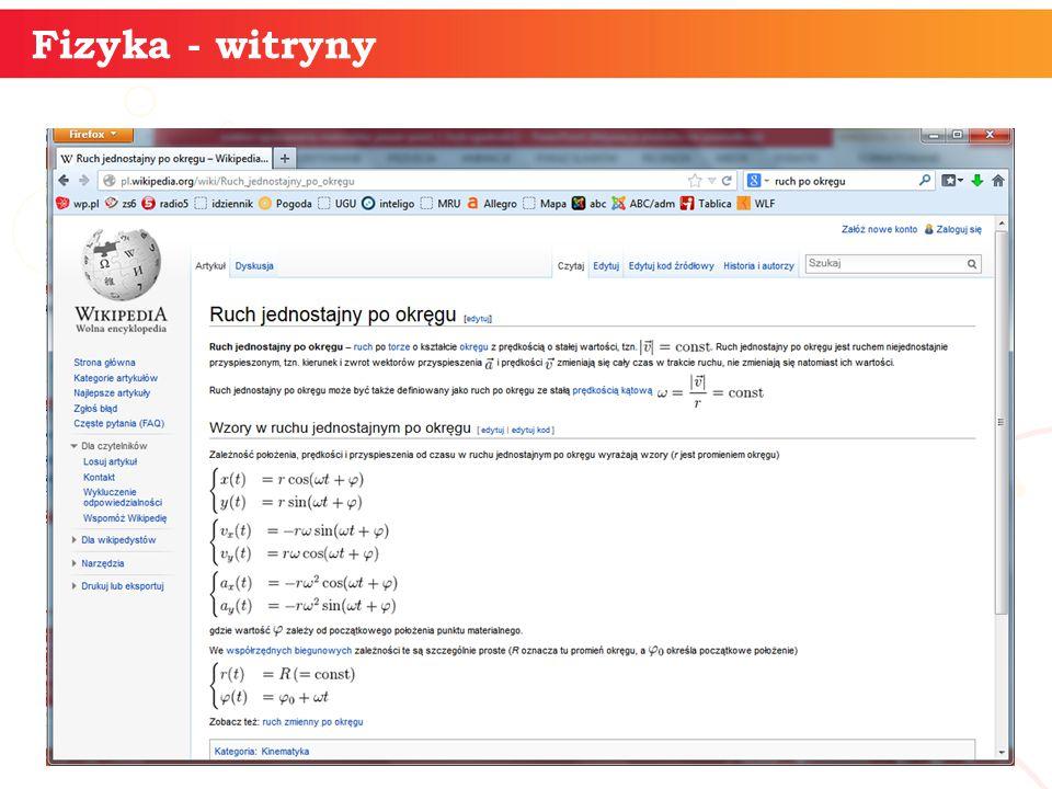 informatyka + 18 Fizyka - witryny