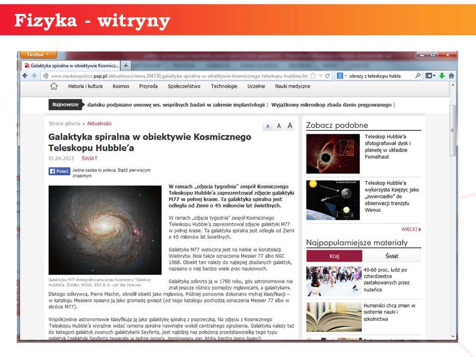 informatyka + 19 Fizyka - witryny