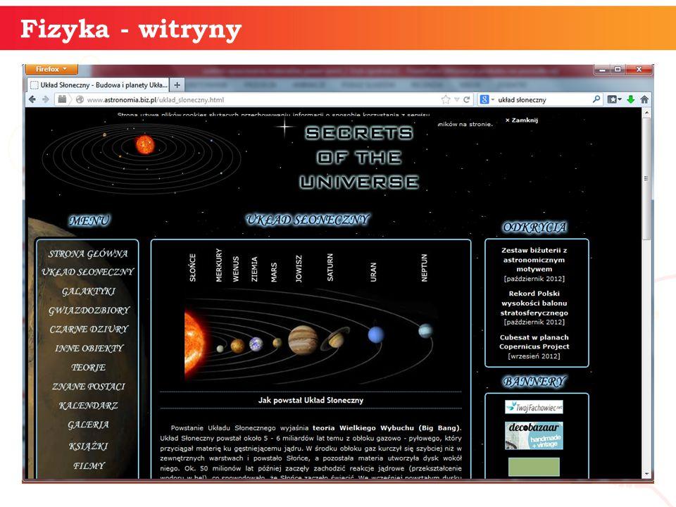 informatyka + 20 Fizyka - witryny