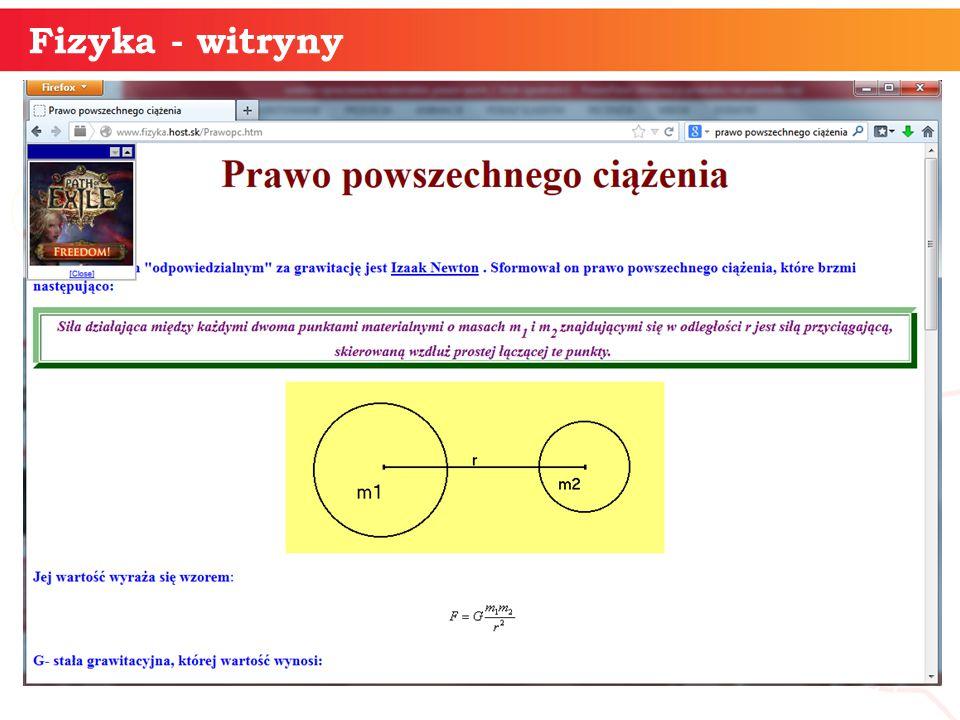 informatyka + 21 Fizyka - witryny