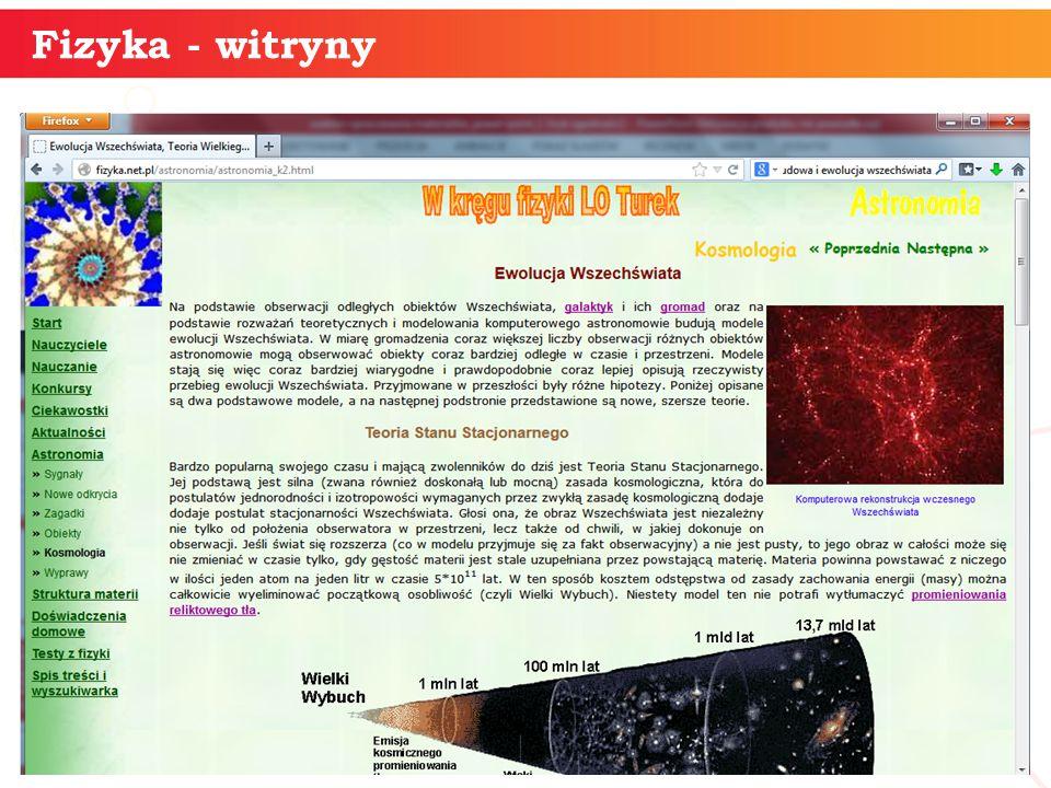 informatyka + 22 Fizyka - witryny