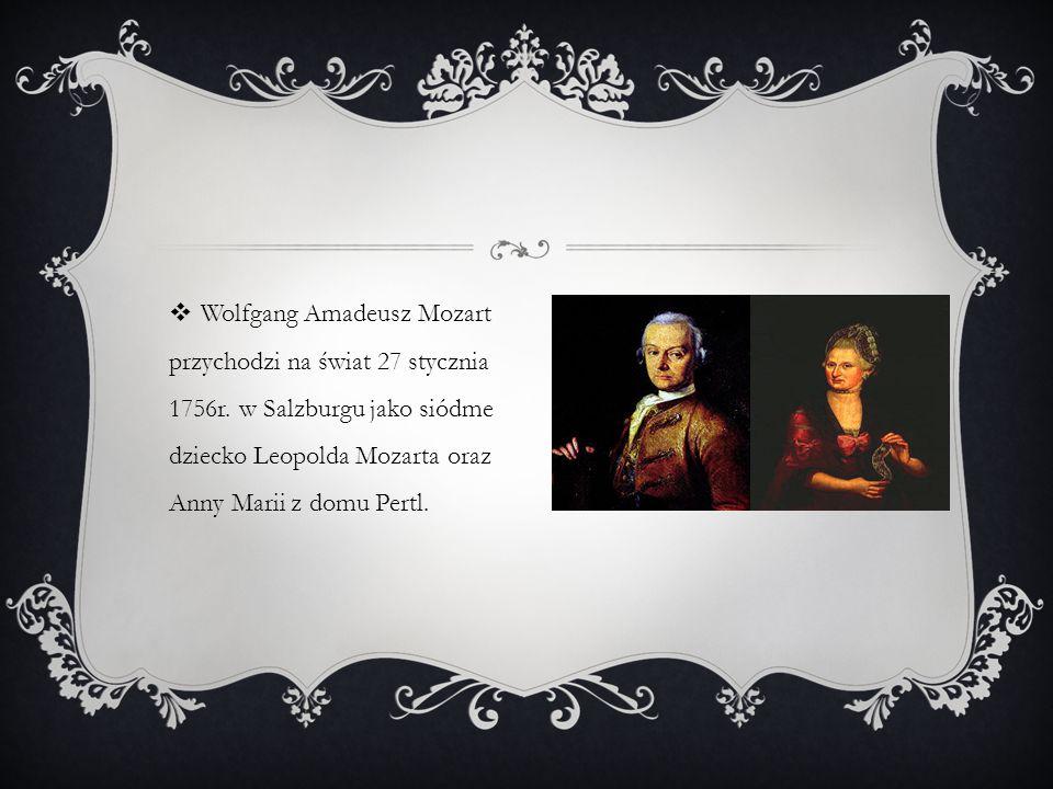  Ojciec Wolfganga- Leopold woził swoje dzieci po Europie prezentując ich talent.