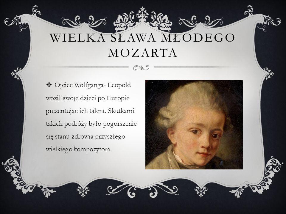 DOROBEK KOMPOZYTORSKI  Mimo iż Mozart żył niecałe 36 lat, zdążył pozostawić po sobie około 700 utworów odznaczających się niezwykłą lekkością.